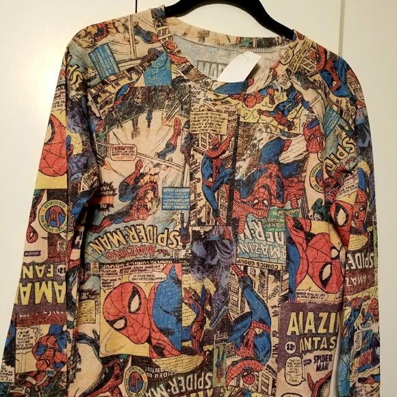 d1dd76bd7 Marvel Comics Retro Spiderman Comic Print Sweater